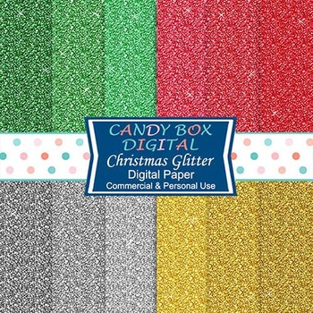 Christmas Holiday Glitter Digital Papers