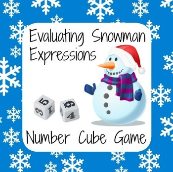 Christmas Holiday Math - Snowman Number Cube Game - Evalua