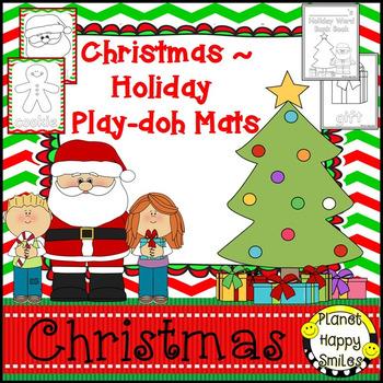 Christmas Activity ~ Holiday Play-doh Mats