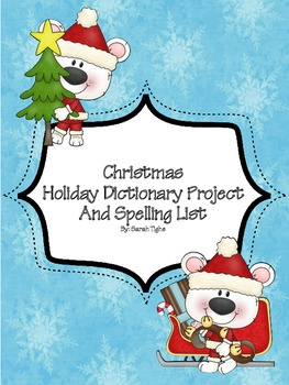 Christmas Holiday Spelling Dictionary Project