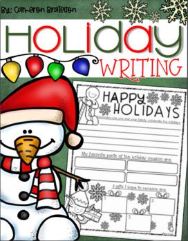 Christmas Holiday Winter Writing Freebie