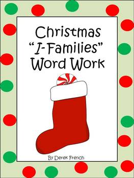 "Christmas ""I Families"" Word Work"