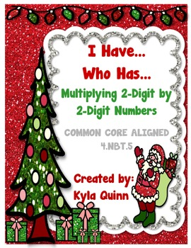 Christmas: I Have...Who Has... Multiplying 2-Digit by 2-Di