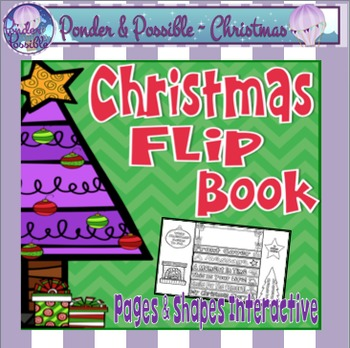 Christmas Interactive Lap Flip Book ~ for story writing
