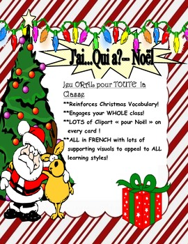 Christmas-J'ai...Qui...-Oral Game for Everyone in French f