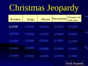 Christmas Jeopardy Round 1