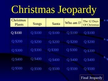 Christmas Jeopardy Round 2