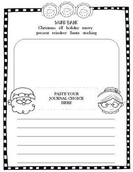 Christmas Journal Prompt