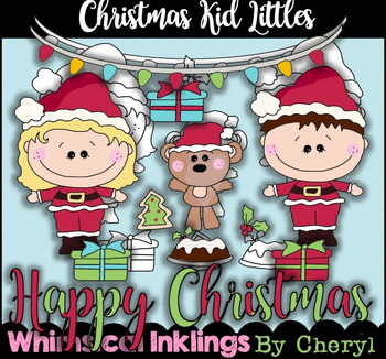 Christmas Kid Littles Clipart Collection