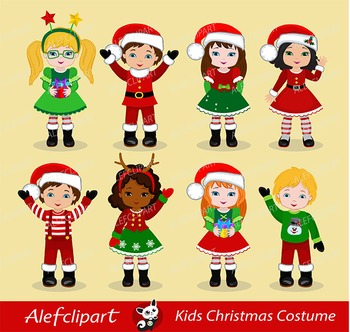 Christmas Kids / Children - Digital Clipart, Christmas clipart