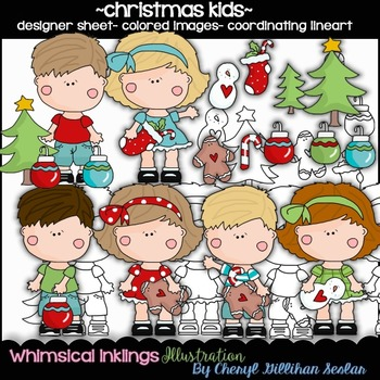Christmas Kids Clipart Collection
