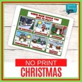 No Print Christmas Language & Articulation Games