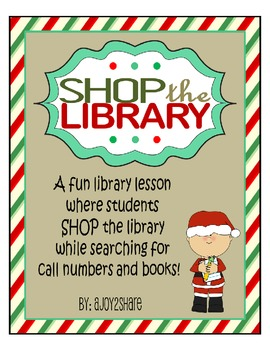 "Christmas Lesson: ""Shop the Library at Christmas"""