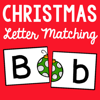 Christmas Letter Matching - Set of 26