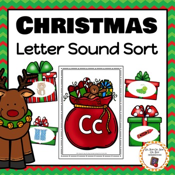 Christmas Letter Sound Sorting Activity
