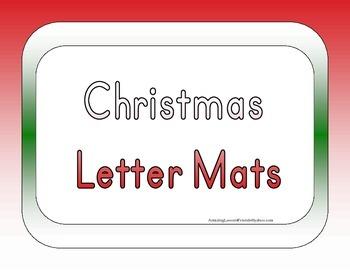 Christmas Letter mats