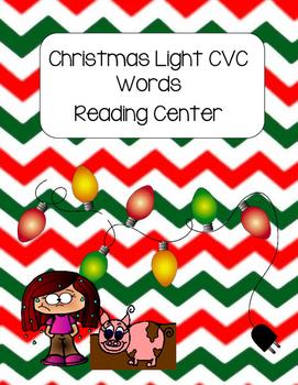 Christmas Light CVC Words Reading Center