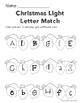 Christmas Light Letter Match