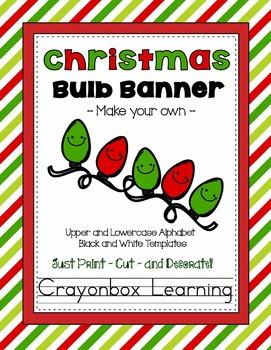 Christmas Lightbulb Bunting Banner {Make Your Own!}