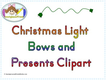 Christmas Lights, Bows and Presents Clipart