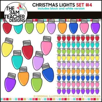 Christmas Lights: Clipart Set #4