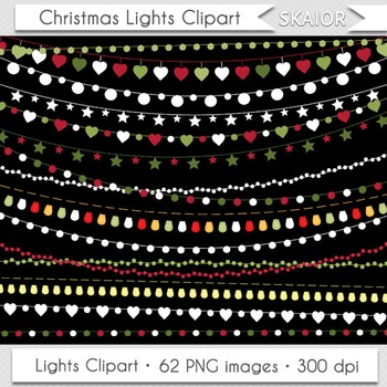Christmas Lights Clipart String Lights Fairy Lights Party