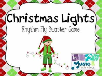 Christmas Lights Fly Swatter Rhythm Card Game