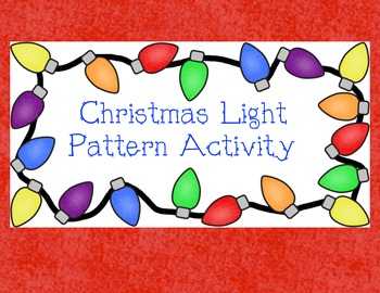 Christmas Lights Pattern Activity