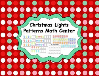 Christmas Lights Patterns Math Center