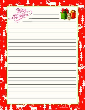 Christmas Lined Paper
