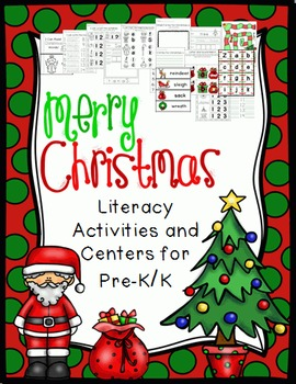 Christmas Literacy Activities and Centers PreK-K