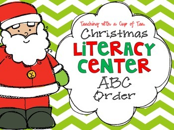 Christmas Literacy Center: ABC Order