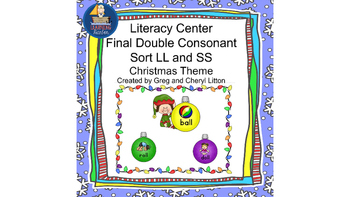 Christmas Literacy Center Final Double Ending Sort SS and LL