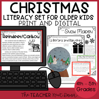 Christmas Literacy Set for 4th - 5th Grade