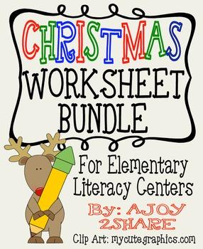 Christmas Literacy Worksheets Bundle