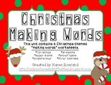 "Christmas ""Making Words"" Worksheets"