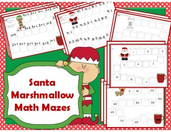 Christmas Marshmallow Math Mazes