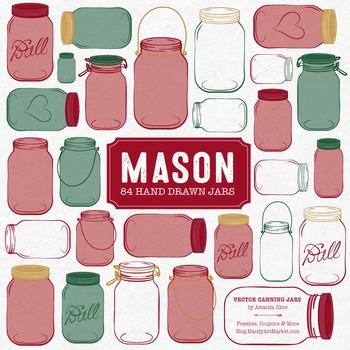 Christmas Mason Jars Clipart & Vectors - Ball Jar Clipart