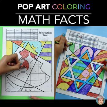 Holiday Math, Christmas Math & Winter Math Fact Coloring