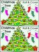Christmas Math Activities: Christmas Tree Roll & Cover Chr