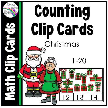 Christmas Math (Counting Clip Cards)