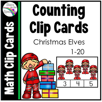 Christmas Math Activities Counting Clip Cards