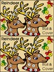 Christmas Activities: Reindeer Roll & Cover Christmas Math