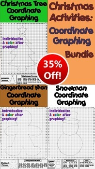 Christmas Math Activities Bundle: Coordinate Graphing and