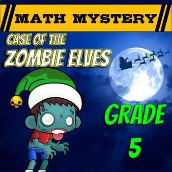 Christmas Math Activity: Christmas Math Mystery - Case of