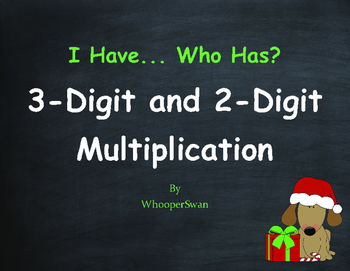 Christmas Math: 3-Digit and 2-Digit Multiplication - I Hav