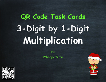 Christmas Math: 3-Digit by 1-Digit Multiplication QR Code