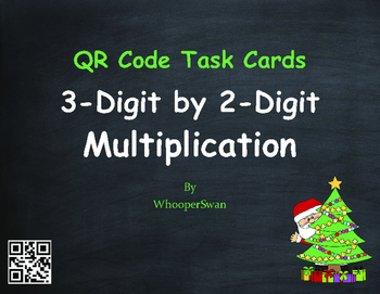 Christmas Math: 3-Digit by 2-Digit Multiplication QR Code
