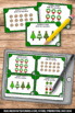 Christmas Math Centers Arrays Task Cards for 2nd Grade Gam