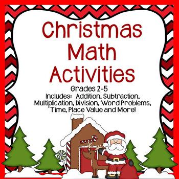 Christmas Math Activities Grades 2-5